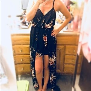 Formal Romper Maxi Dress